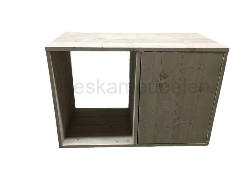 Wasmachine of Koelkast ombouw met deurtje en onder plateau