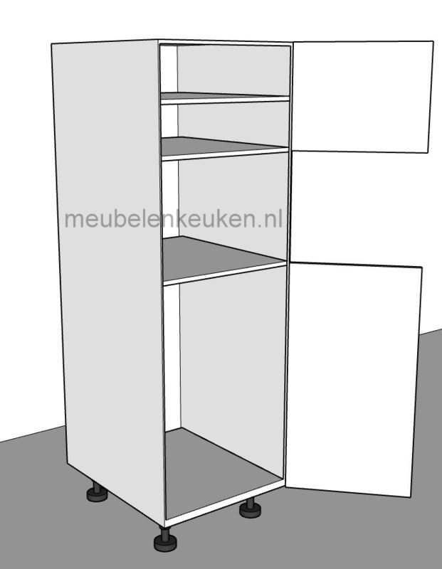 Inbouwkast Tbv Koelkast 1025 Mm En Combi Magnetron 450 Mm