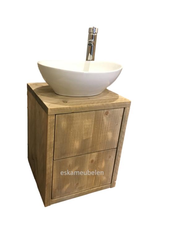 Toiletmeubel met twee lades