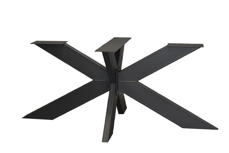 Stalen matrix poot / onderstel 2 delig, koker 15x5 cm, incl. coating