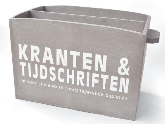 Wonderbaar Tijdschriftenbak of krantenbak Taupe | Houten decoratie | èSKa RZ-18