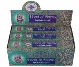"Green tree ""Hand of Fatima"" wierook"