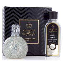Ashleigh & Burwood The Pearl geurlamp + 250ml Fresh Linen Oil