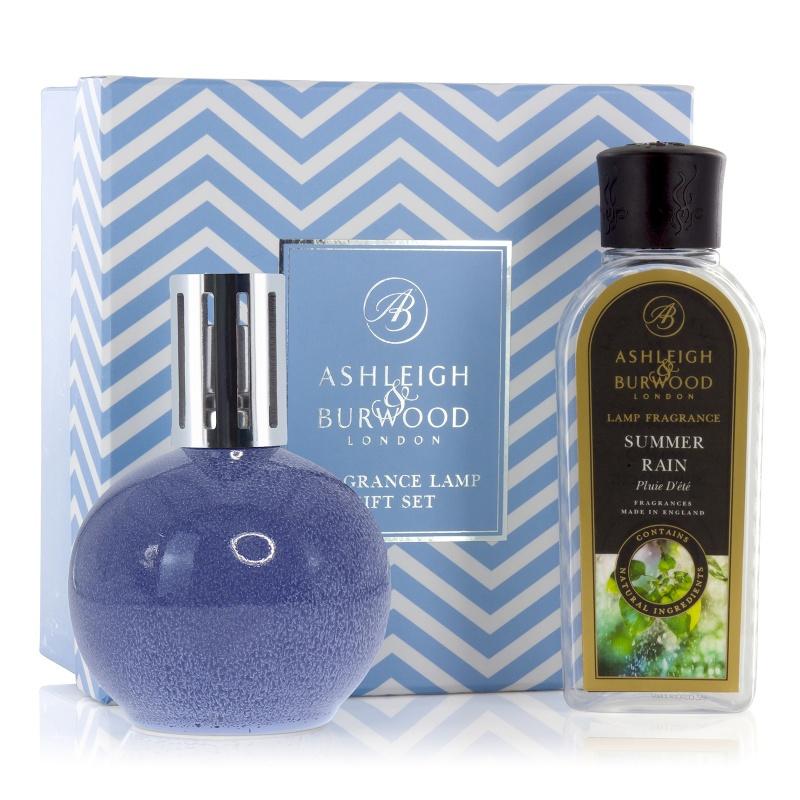 Ashleigh & Burwood Blue Speckle geurlamp + 250ml Summer Rain Oil