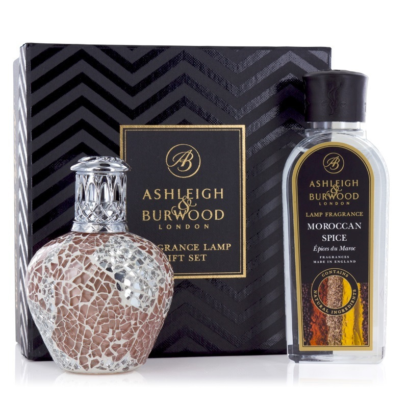 Ashleigh & Burwood Apricot Shimmer  geurlamp + 250ml Moroccan Spice Oil