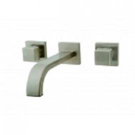 Rombo inbouw-wastafelmengkraan 2-knops geborsteld staal