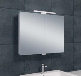 Wiesbaden Luxe spiegelkast + Led verlichting 80x60x14cm