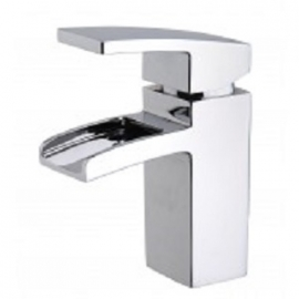 Rombo waterval wastafelkraan inclusief clickwaste chroom