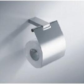 Eris toiletrolhouder met klep chroom