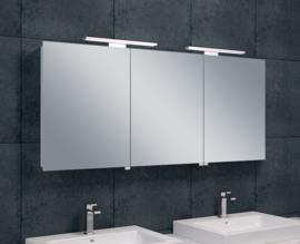Wiesbaden Luxe spiegelkast + Led verlichting 140x60x14cm