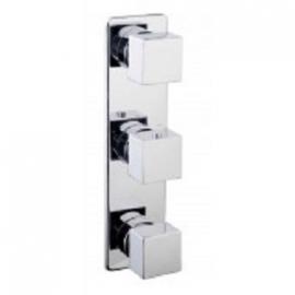 Rombo inbouw 3-wegs douchethermostaat vierkant chroom
