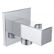 "Luxe muur doucheaansluiting met opsteek vierkant.1/2"" chroom"