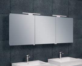 Wiesbaden Luxe spiegelkast + Led verlichting 160x60x14cm