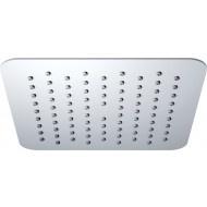 UFO Luxe hoofddouche vierkant 200mm Ultra plat chroom