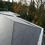 Epdm dakbedekking aangebracht