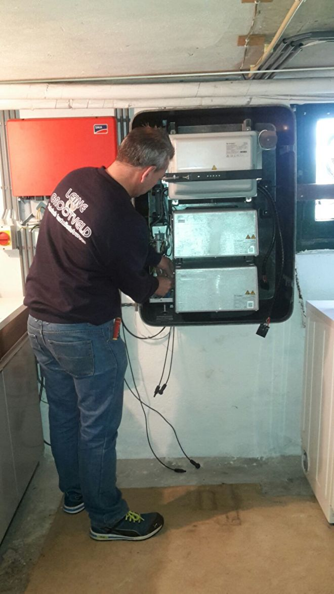Installatie Solarwatt MyReserve accu opslag