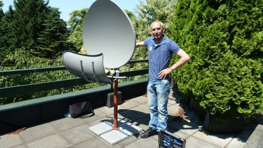 Satelliet-installatie uitrichten
