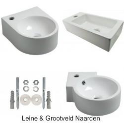 Toilet fontein hoekfontein recht en Klein