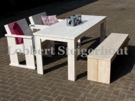 Steigerhouten Tuinset met bankje en 2 stoelen