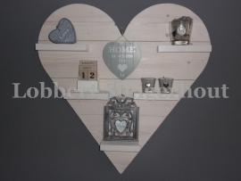 Steigerhouten Wandbord hart groot