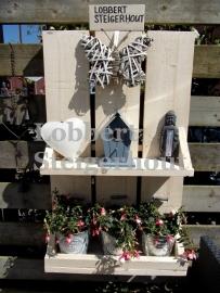 Steigerhouten schutting decoratiebord