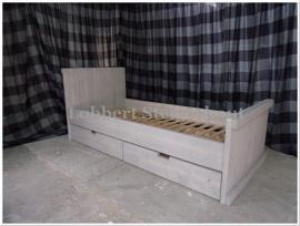 Steigerhouten Bed met 2 Lades