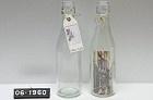 Decoratieve fles helder glas