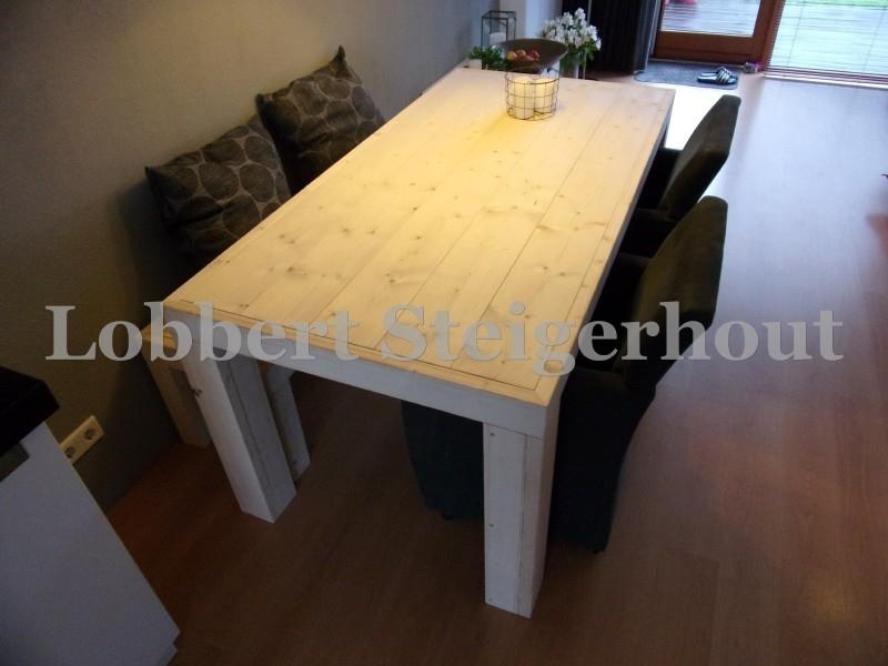 Steigerhouten tafel Britt