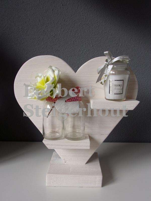 2 kanten Steigerhouten hart op standaard klein