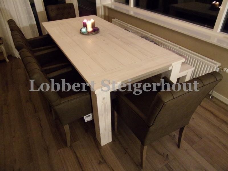 Steigerhouten Eettafel Melanie