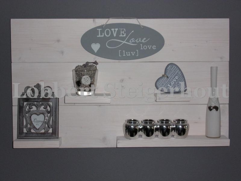 Steigerhouten Wandbord 100 x 60 cm