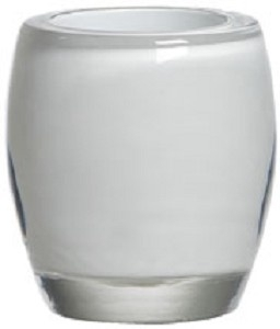 waxinelichthouder ovaal wit