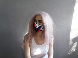 Red white& Blue mask
