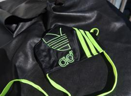 Adidas mask black lime logo R