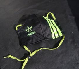 Adidas mask black lime logo