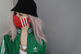 Adidas mask red