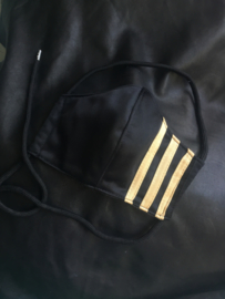 Adidas mask black gold