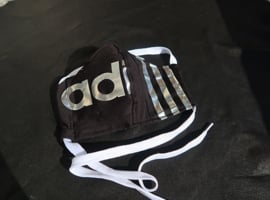 Adidas mask black silver