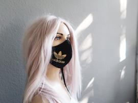 Adidas gold logo mask