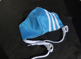 Adidas mask L.blue white cord