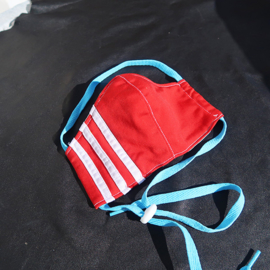 Adidas mask red blue cord