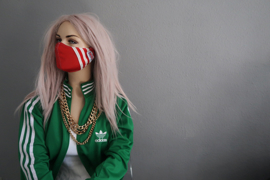 Adidas versus Lonsdale mask