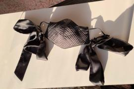 Boudoir mask black satin