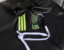Adidas mask black lime logo L