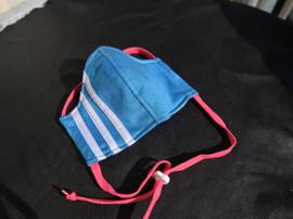 Adas mask L.blue pink cord