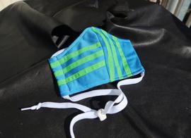 Adias mask turq green White cord Missy Eliot collection