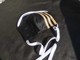 Adidas mask black-gold white cord