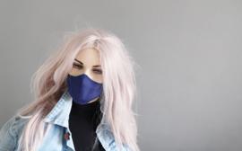 Blue silk