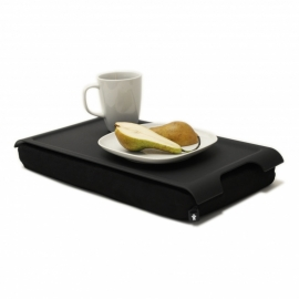 Mini Laptray anti slip/zwart