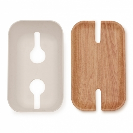 Cable organiser hideaway M white/natural wood